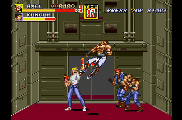 best sega genesis games streets of rage 2 screen 1