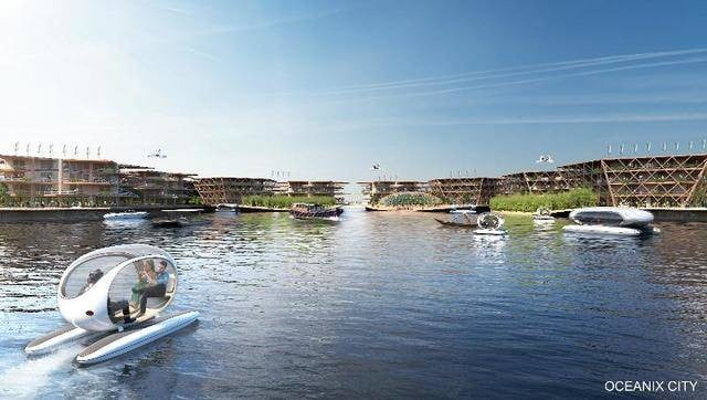 this floating city concept could withstand a category 5 hurricane the designers recognize of course that most people will con