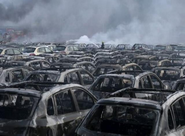 Tianjin explosion destroys over 8,000 new cars in China