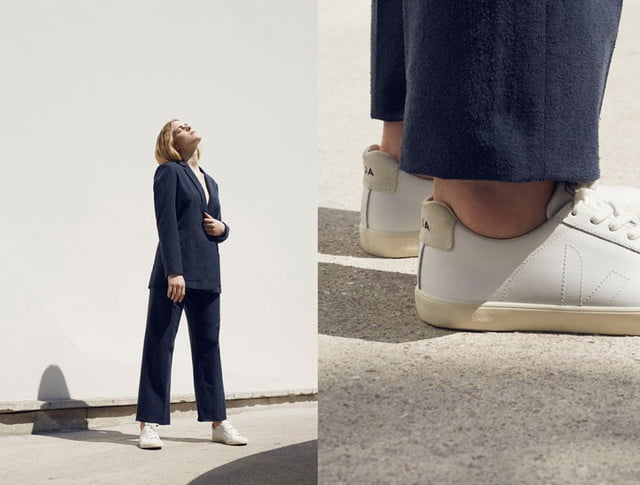 Veja sustainable sneakers - women's white
