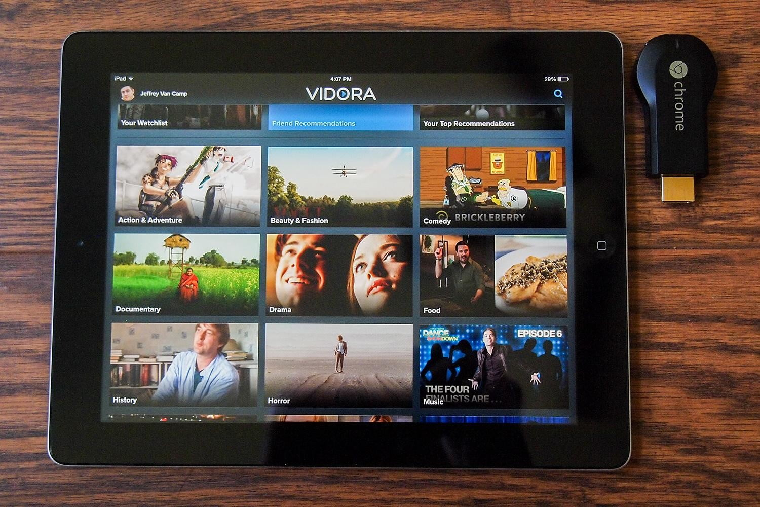 Meet Vidora, a TV guide for your iPad (and Chromecast