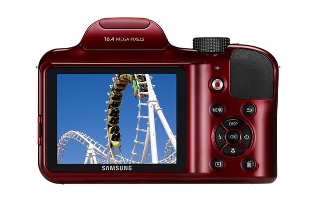 samsung ces 2014 point and shoot cameras wb1100f 002 back red
