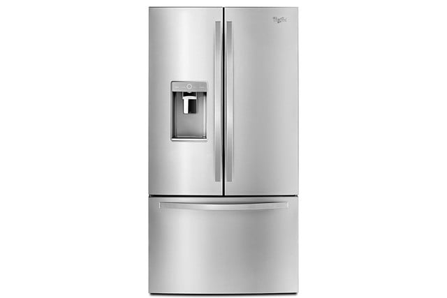 whirlpools smart appliances work with nest and amazon dash whirlpool pantry inspired french door refrigerator p150437 1z