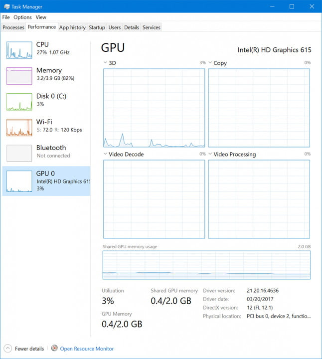 windows insider build 16241 released 10 task manager gpu view