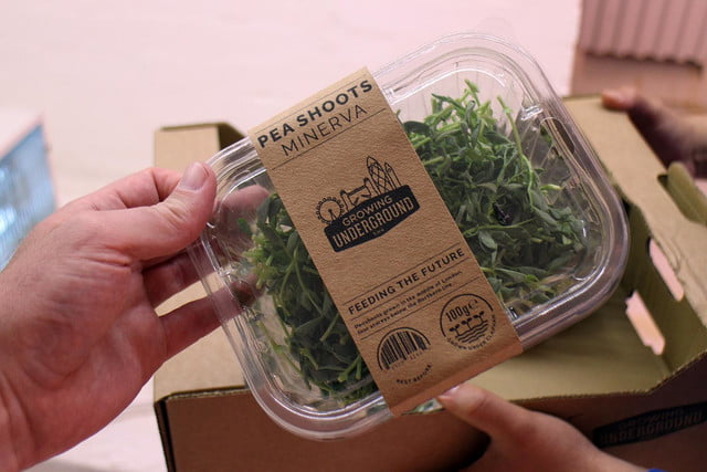 londons underground farm zero carbon food growing packaging